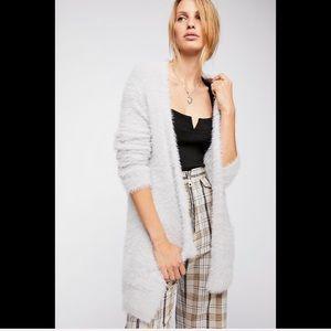 NWT Free People Faux Fur Cardigan - size L